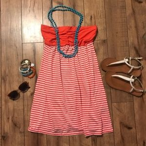 Express Strapless Coral Dress NWT